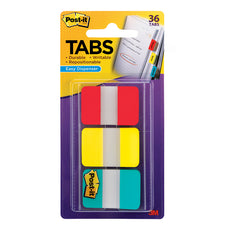 Durable Index Tabs 1 x 1.5 3/Pk