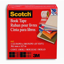 3M Scotch Transparent Bookbinding Tape 1 1/2V x 15 Yds