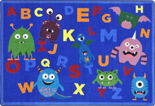 "Monster Mash© Classroom Rug, 5'4"" x 7'8"" Rectangle"