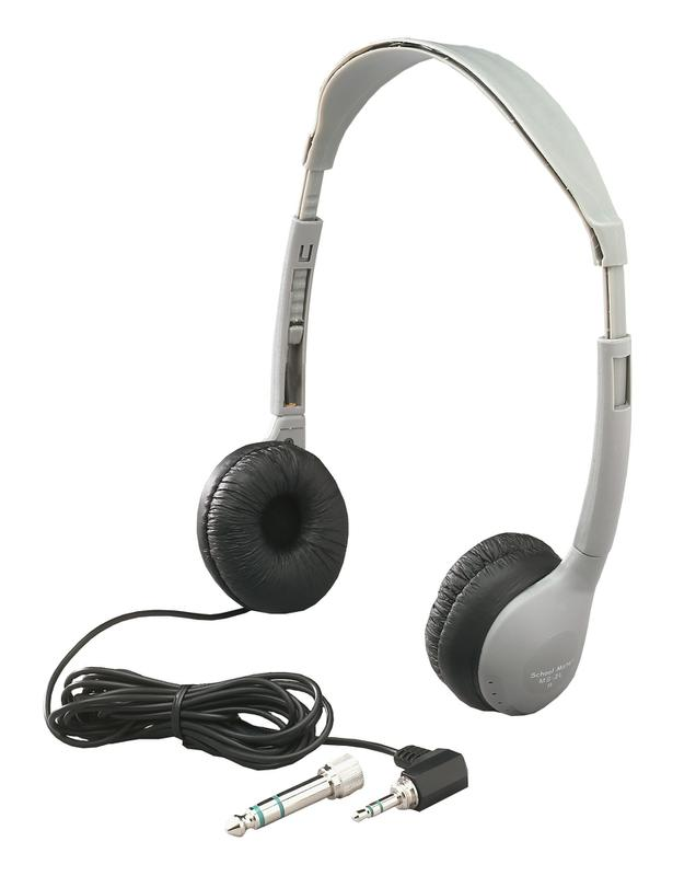 Personal Stereo Mono Headphones Leatherette Ear Cush Without Volume Control
