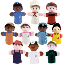 Multicultural Career Puppets, Set of 10