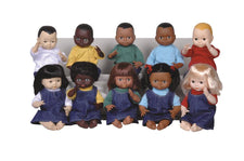 Dolls Multi-Ethnic 10-Doll School Set