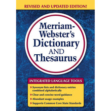 Merriam-Webster's Dictionary & Thesaurus, Trade, Paperback Size