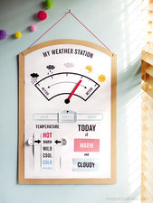 Interactive Weather Station Printable