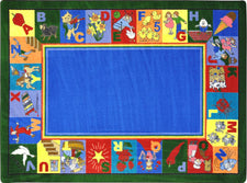 "My Favorite Rhymes© Alphabet & Numbers Classroom Rug, 5'4"" x 7'8"" Rectangle"