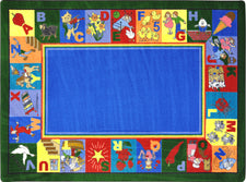 "My Favorite Rhymes© Alphabet & Numbers Classroom Rug, 5'4"" x 7'8""  Oval"