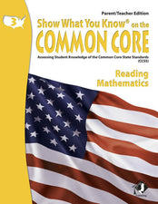 Gr 3 Parent Teacher Edition Reading & Math Show What You Know On The Common Core