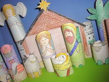 DIY Printable Toilet Paper Roll Nativity