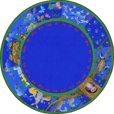"Nature's Numbers™ Classroom Seating Rug, 7'7"" Round"