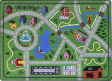 "Neighborhood Explorer© Classroom Rug, 7'8"" x 10'9"" Rectangle"