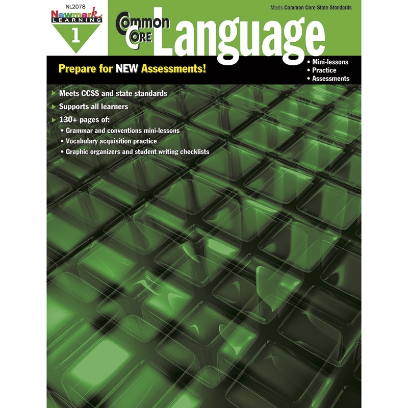 Newmark Learning Common Core Practice Language Book Grade 1