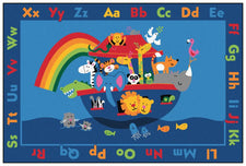 Noah's Alphabet Animals KID$ Value PLUS Discount Rug, 6' x 9' Rectangle
