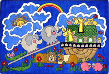 "Noah's Ark© Sunday School Rug, 5'4"" x 7'8"" Rectangle"