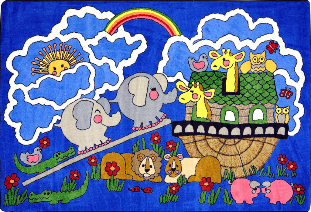 "Noah's Ark© Kid's Play Room Rug, 3'10"" x 5'4"" Rectangle"