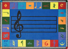 "Note Worthy© (Elementary) Classroom Rug, 5'4"" x 7'8"" Rectangle"