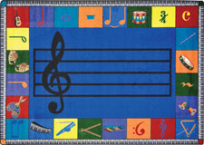 "Note Worthy© (Preschool) Classroom Circle Time Rug, 7'8"" x 10'9"" Rectangle"