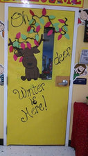 """Oh Deer, Winter Is Here!"" - Winter Classroom Door Display"