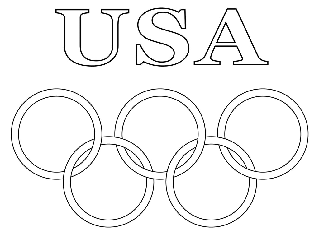 8 Printable Olympic Coloring Pages Supplyme
