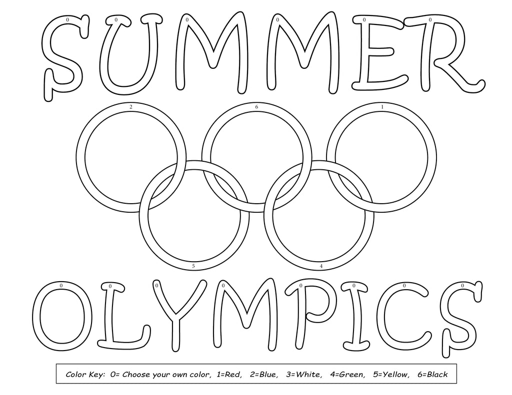 8 FREE Printable Olympic Coloring