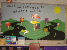"""On the Road..."" - Classroom Management Bulletin Board"