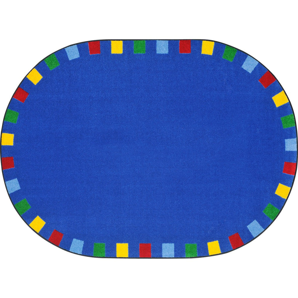 "On the Border™ Bright Classroom Circle Time Rug, 5'4"" Round"
