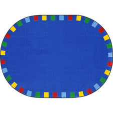 "On the Border™ Bright Classroom Circle Time Rug, 5'4"" x 7'8"" Oval"