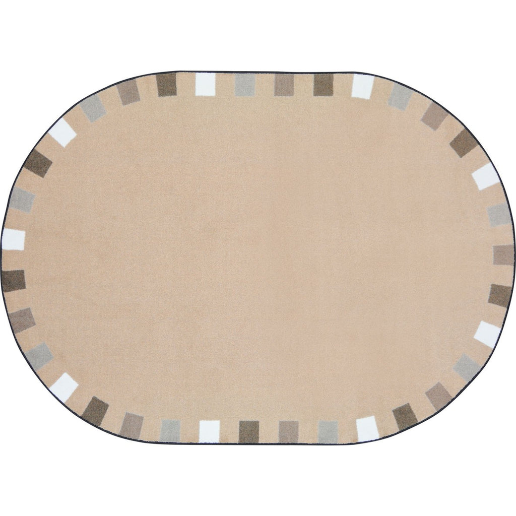 "On the Border™ Neutral Classroom Circle Time Rug, 7'7"" Round"