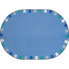 "Joy Carpets On the Border™ Soft Classroom Circle Time Rug, 7'8"" x 10'9"" Oval"