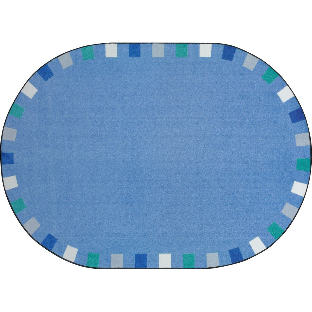 "On the Border™ Soft Classroom Circle Time Rug, 5'4"" x 7'8"" Oval"