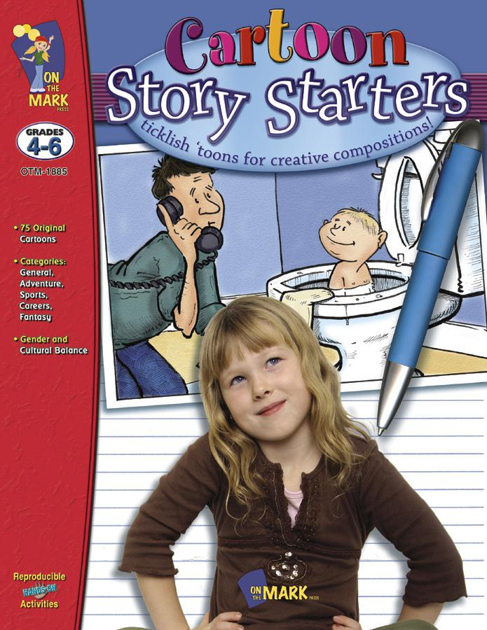 Cartoon Story Starters Gr 4-6