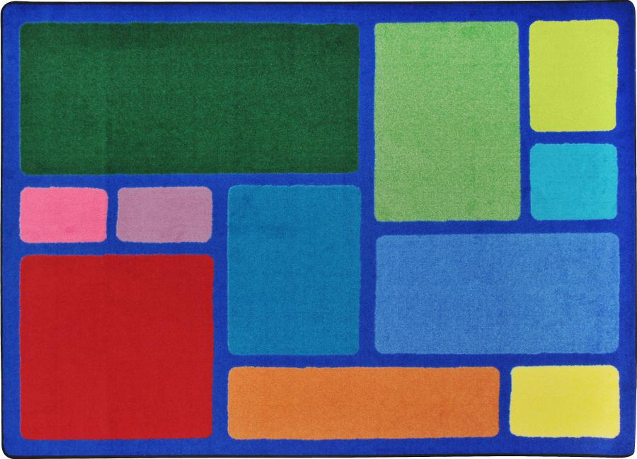 "Our Block Primary Classroom Rug, 7'8"" x 10'9"" Rectangle"