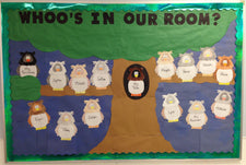 """Whoo's In Our Room?"" Fall Bulletin Board Idea"