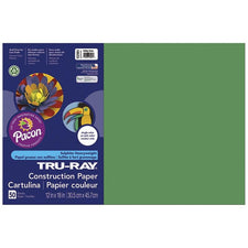"Tru-Ray® Construction Paper, 12"" x 18"" Holiday Green"