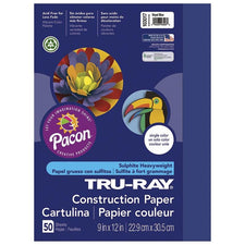 "Tru-Ray® Construction Paper, 9"" x 12"" Royal Blue"