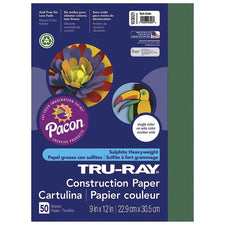"Tru-Ray® Construction Paper, 9"" x 12"" Dark Green"