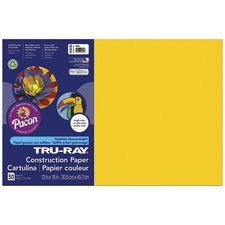 "Tru-Ray® Construction Paper, 12"" x 18"" Yellow"
