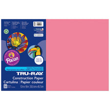 "Tru-Ray® Construction Paper, 12"" x 18"" Shocking Pink"