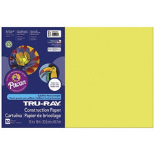 "Tru-Ray® Construction Paper, 12"" x 18"" Lively Lemon"