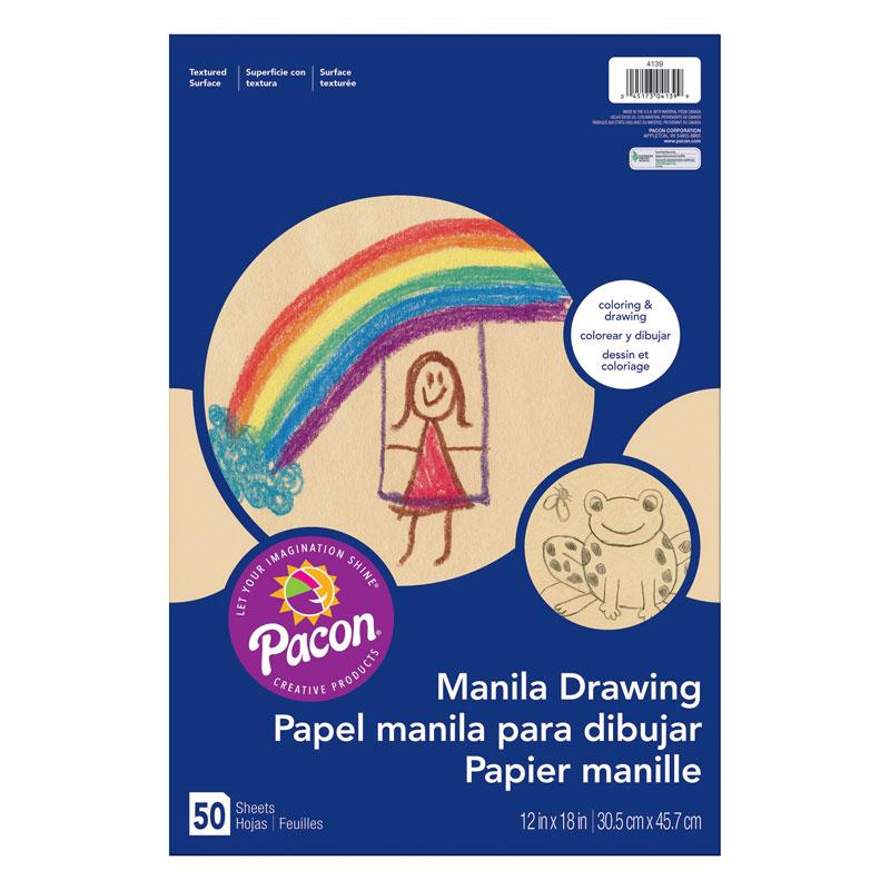 "Pacon® Manila Drawing Paper, 12"" x 18"" (50 Sheets)"