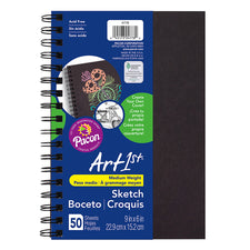 "Art1st® Create Your Own Cover Sketch Diary, 6"" x 9"" (50 Sheets, Black Cover)"