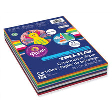 "Tru-Ray® Sulphite Construction Paper, 9"" x 12"" Smart-Stack™ Assortment"