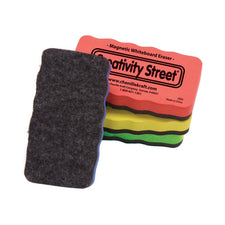 Creativity Street® Magnetic Chalkboard & Whiteboard Eraser, 4 Pack (Assorted Colors)