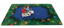 Peaceful Tropical Night Classroom Rug, 8' x 12' Rectangle