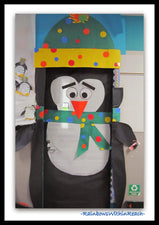Cute Penguin Classroom Door Decoration for Winter