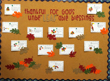 "Thankful for God's Unbe""LEAF""able Blessings! - Thanksgiving Bulletin Board"