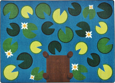 "Playful Pond© Classroom Rug, 5'4"" x 7'8"" Rectangle"