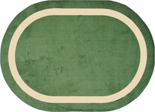 "Portrait© Classroom Rug, 7'8"" x 10'9""  Oval Greenfield"