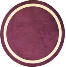 "Portrait© Classroom Rug, 7'7""  Round Heather"