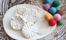 Christmas DIY - Beautiful Pressed Clay Ornaments