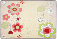 "Pretty Posies© Kid's Play Room Rug, 3'10"" x 5'4"" Rectangle"